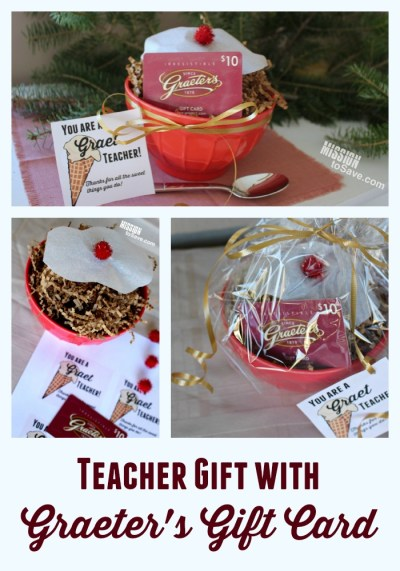 "This DIY Teacher Gift is perfect for a Graeter's Ice Cream fan.  Sweet and Punny- it's ""Graet"" for Teacher Appreciation or Christmas gifts!"