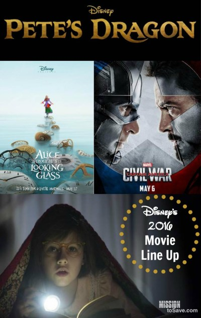 See the full slate of Disney's 2016 Movie Line Up. Which Disney movie titles are on the top of your list?