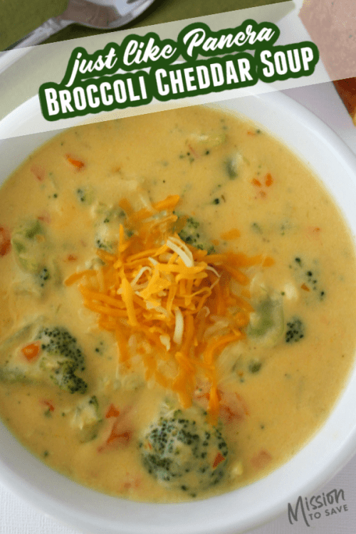bowl of broccoli cheddar soup