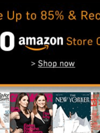 magazine sale + Amazon credit