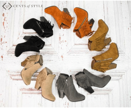 cents of style fringe booties