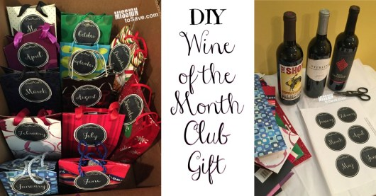 Save money and make your own DIY Wine of the Month Club Gift.