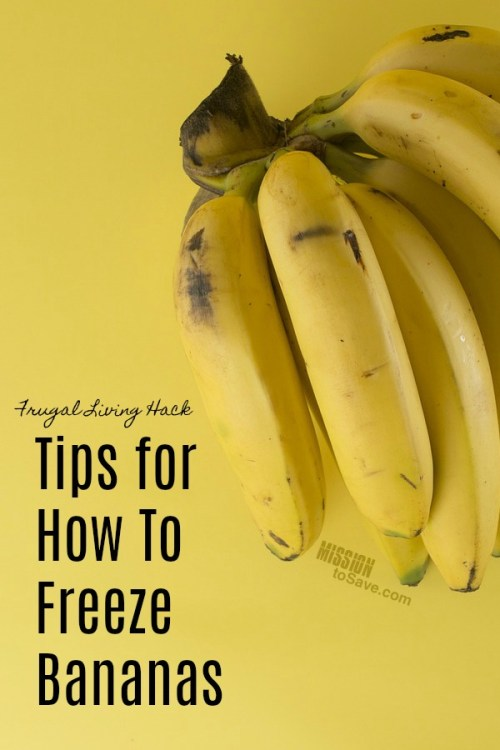 bananas how to freeze bananas