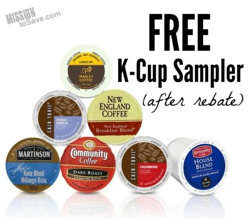free k-cup sampler after rebate