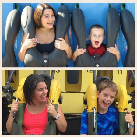 Andrew at Kings Island- Then and Now
