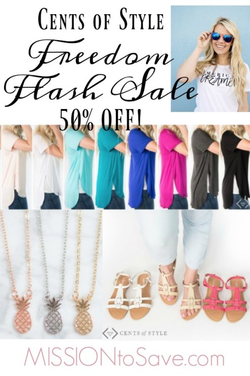 cents of style freedom flash sale
