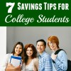 7 Savings Tips for College Students