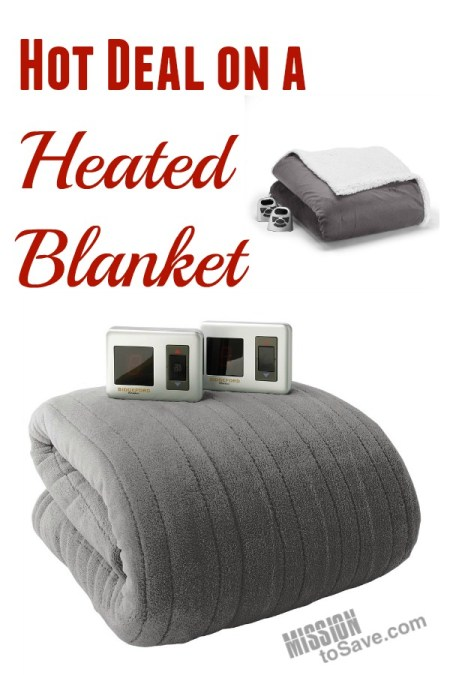 Looking for a way to warm up a loved one this season?  Check out this hot deal on a heated blanket.