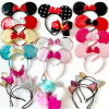 Perfect Glittering Minnie Ears and Crown Headbands