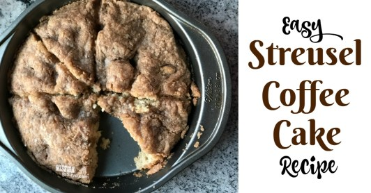 This easy Streusel Coffee Cake Recipe is modified from a classic Bisquick recipes magazine. It's a classic breakfast comfort food.