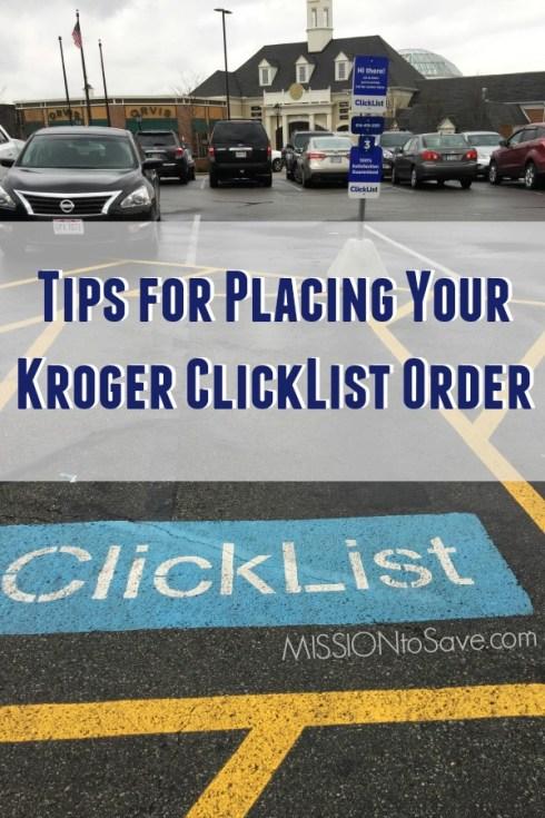 Kroger ClickList parking space