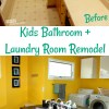 Perfect Kids Bathroom + Laundry Room Remodel