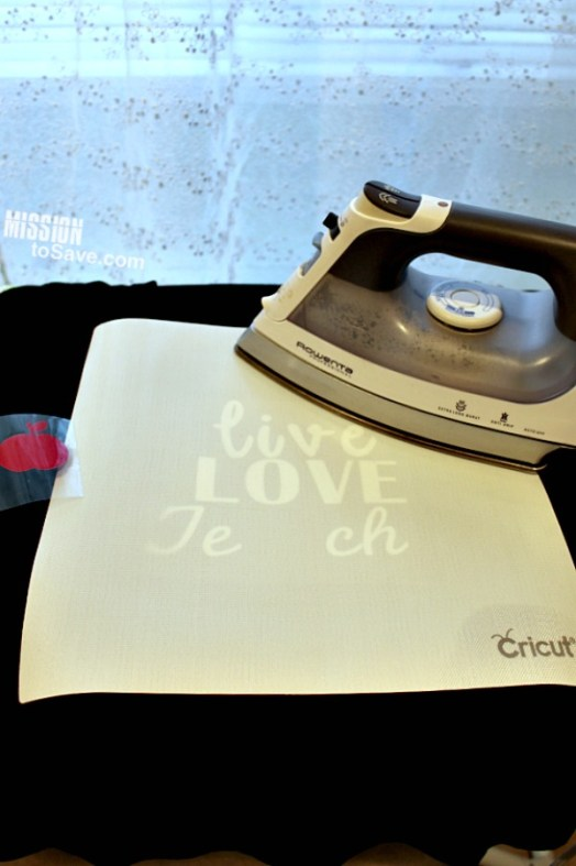 Live Love Teach Teacher Graphic Tee made with Cricut is a perfect personalized teacher gift idea.