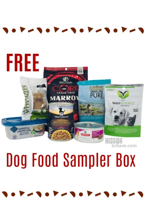 Try our new treats for your pup with this Free Dog Food Sampler Box from Amazon. Box ends up free after getting a credit to use on future purchase.
