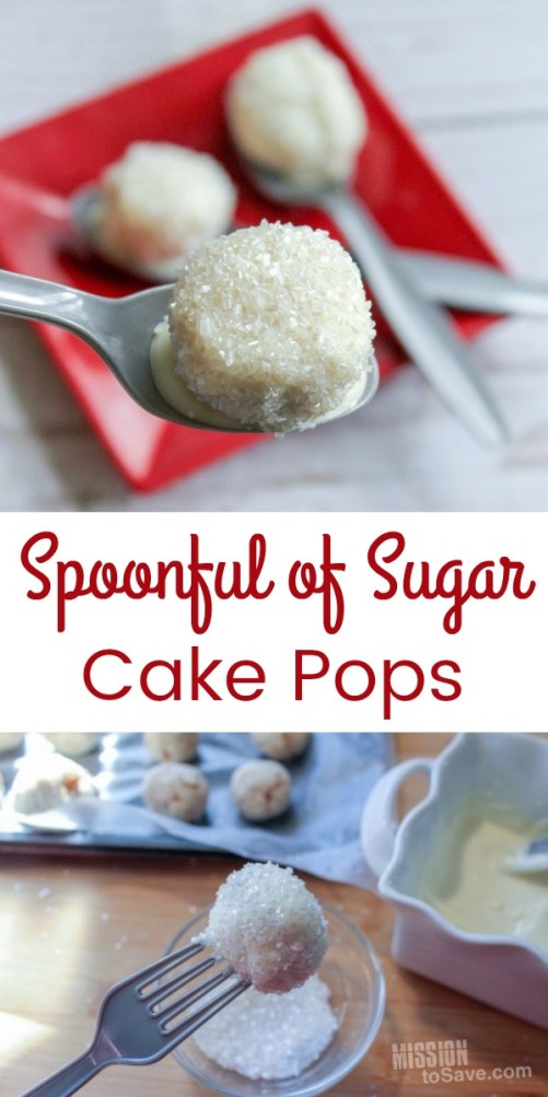 sugar coated cake pops on spoons
