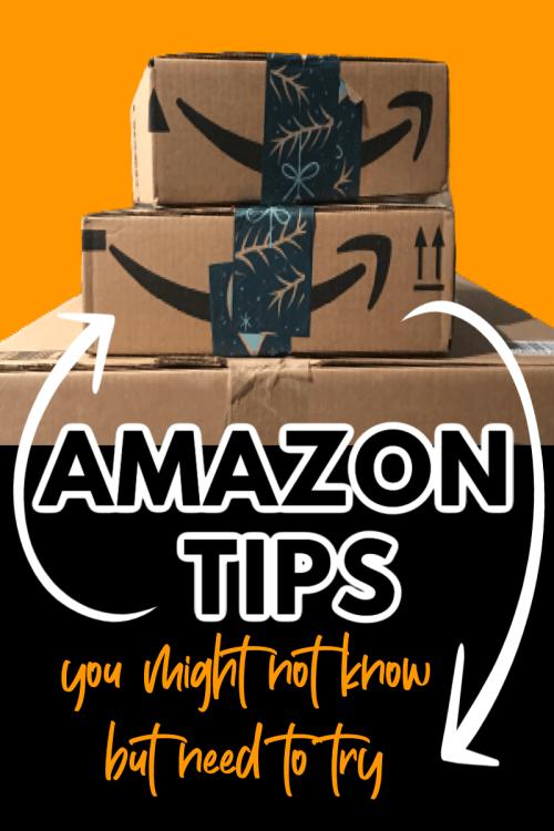 amazon boxes with text amazon tips