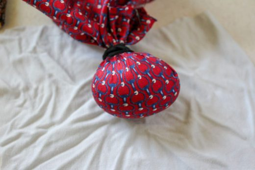 silk tie wrapped egg
