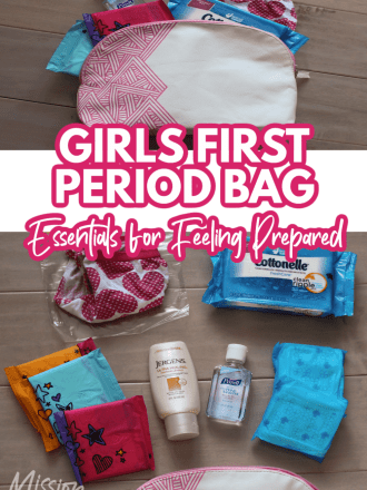 items for in a girls first period bag