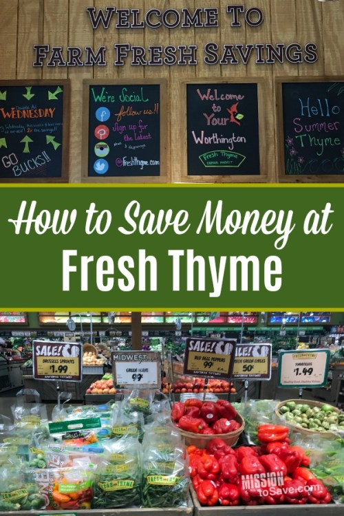 Fresh Thyme produce and tips for how to save money at Fresh Thyme Market