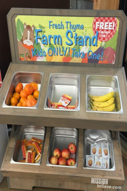Fresh Thyme Farm Stand Free Snack for Kids