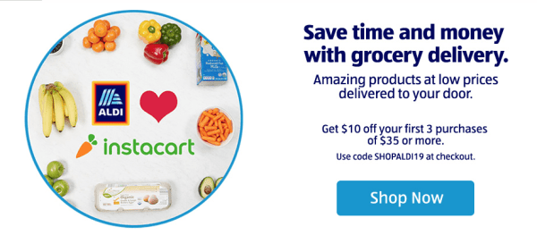 Aldi grocery delivery with InstaCart
