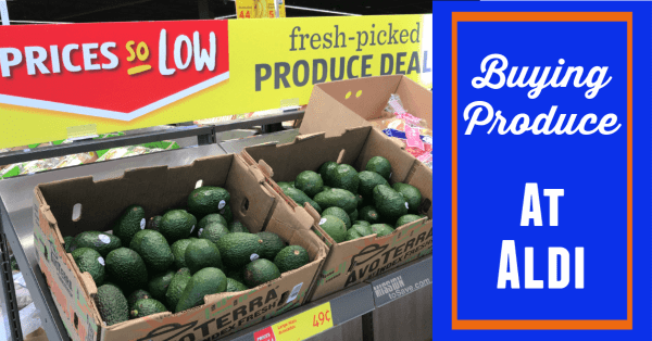 Aldi produce for savings