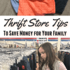 Thrift Store Tips to Save Money for Your Family