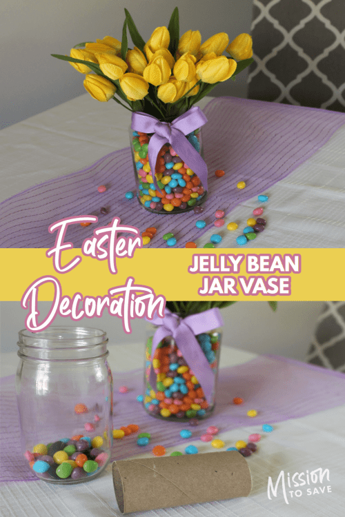 jelly beans in a jar how to make Easter decoration