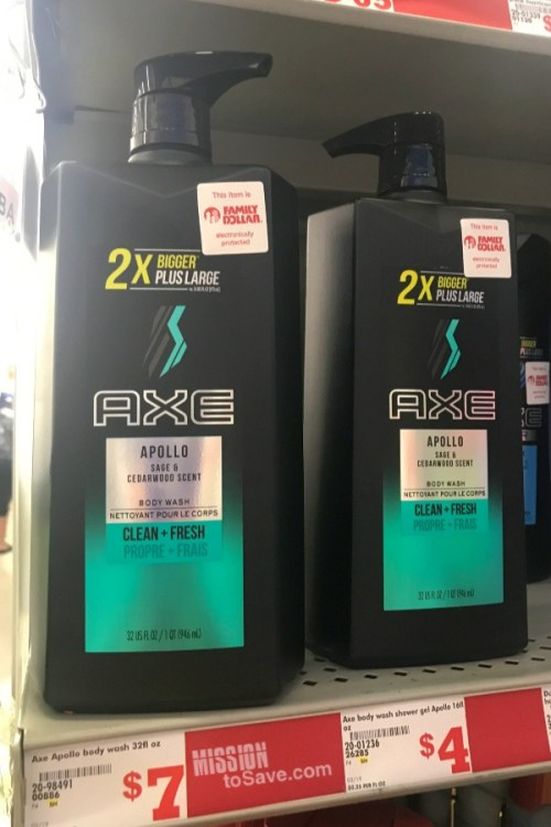 AXE Apollo Body Wash Large Pump Bottle at Family Dollar