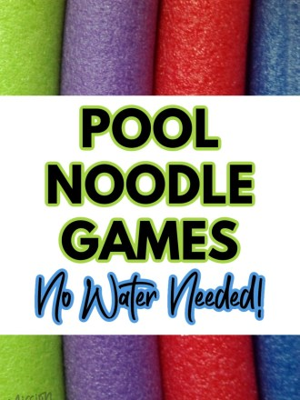 pool noodles with text pool noodle games