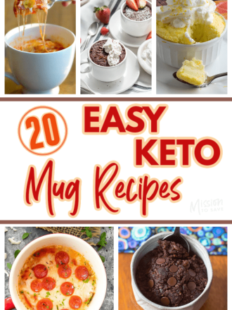 collage of keto mug recipes