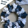 Show School Spirit with Easy Bandana Wreath Tutorial