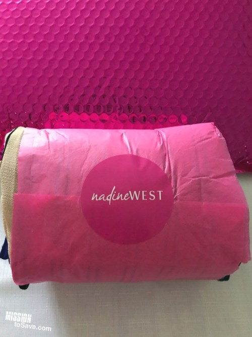 Nadine West clothing subscription pink bag