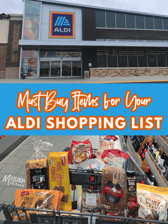 aldi store and cart of aldi items