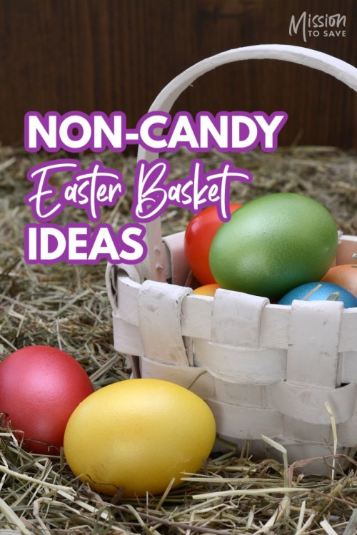 easter basket with non-candy eggs
