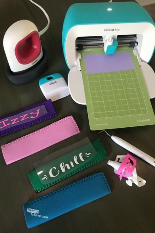 making personalized posicle holders with Cricut Joy