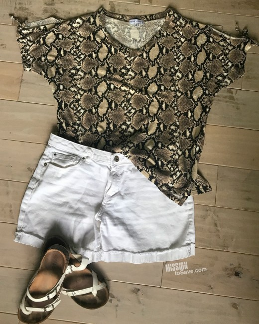 python shirt outfit nadine west july 2020