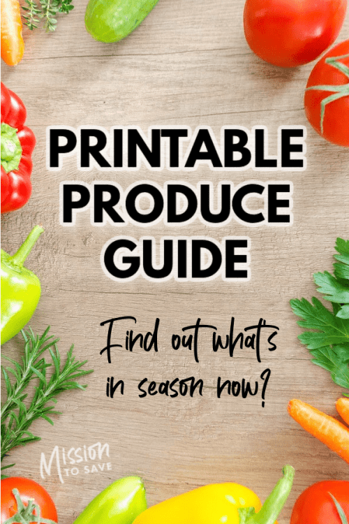 fruit and vegetables with test printable produce guide