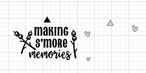 making s'more memories cricut design space
