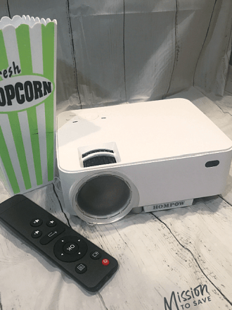 mini projector with remote