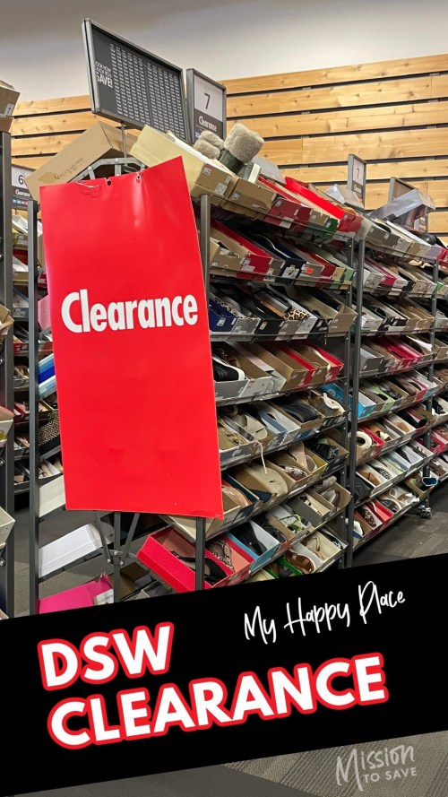 dsw clearance aisle