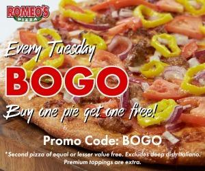Romeo's Pizza BOGO