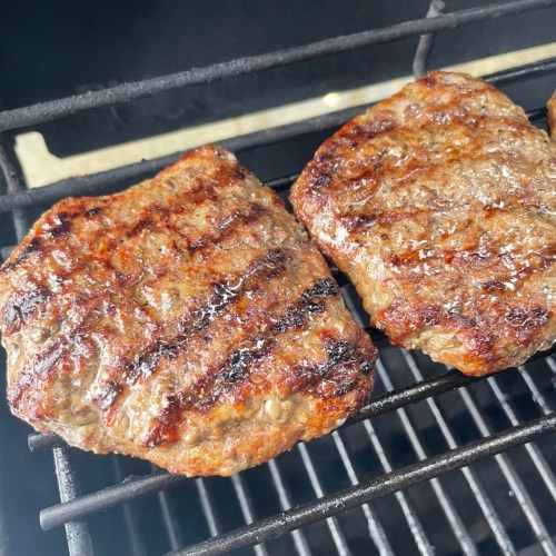BUBBA burgers on grill