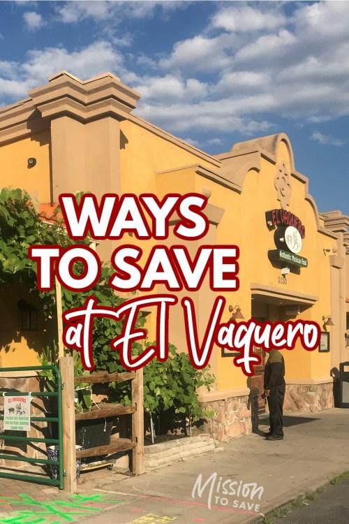 el Vaquero restauratn with text ways to save