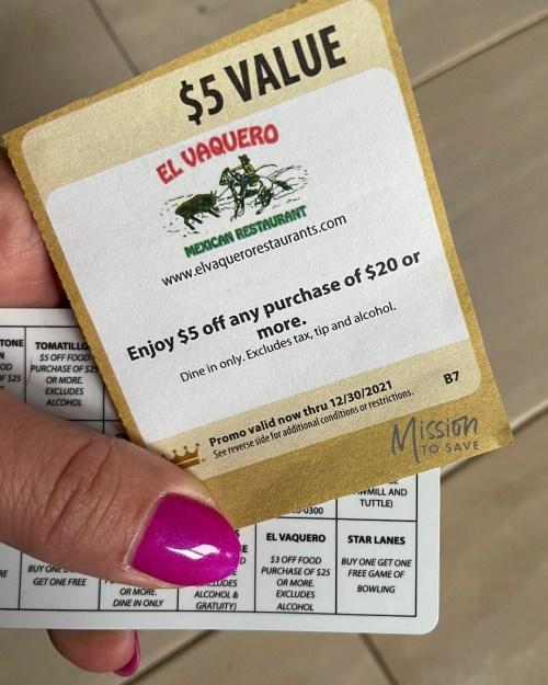 El Vaquero coupons