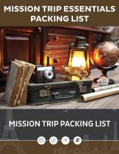 Missions Trip Packing List