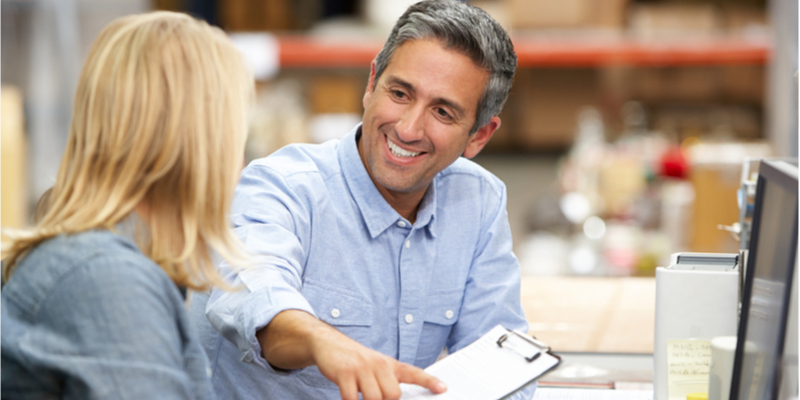 Financial advisor with small business owner