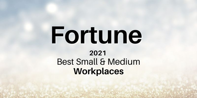 Fortune 2020 Best Small & Medium Workplaces HERO