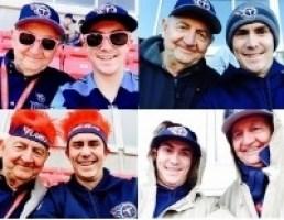 Luke and his grandpa enjoying Tennessee Titans football games