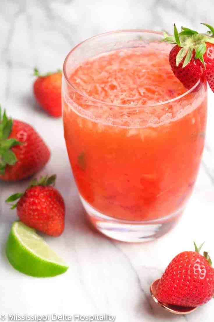 Strawberry Mint Julep Cocktail